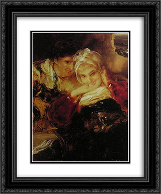 Couple 20x24 Black or Gold Ornate Framed and Double Matted Art Print by Nikolaos Gyzis