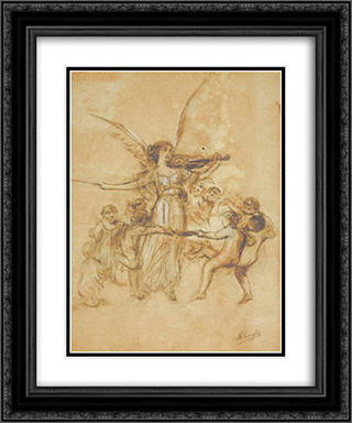 Draft of Arts and Spirits 20x24 Black or Gold Ornate Framed and Double Matted Art Print by Nikolaos Gyzis