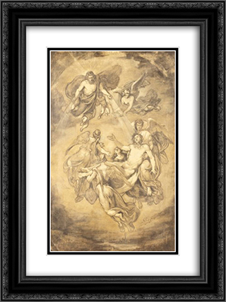 Drawing 18x24 Black or Gold Ornate Framed and Double Matted Art Print by Nikolaos Gyzis