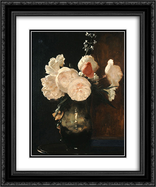 Flowers 20x24 Black or Gold Ornate Framed and Double Matted Art Print by Nikolaos Gyzis