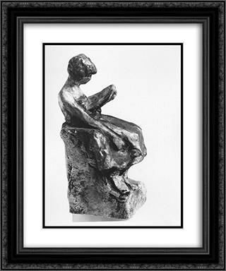 Girl reading 20x24 Black or Gold Ornate Framed and Double Matted Art Print by Nikolaos Gyzis