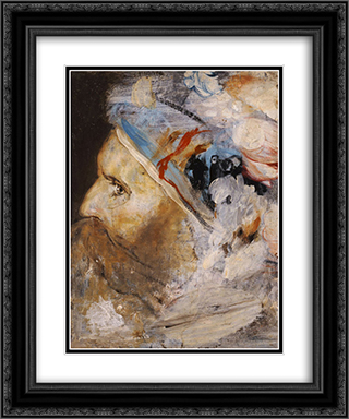 Head of old man 20x24 Black or Gold Ornate Framed and Double Matted Art Print by Nikolaos Gyzis
