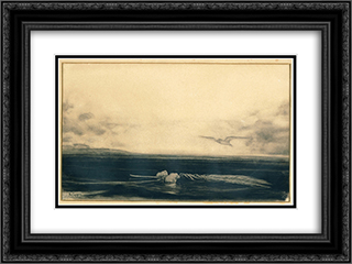 Landscape 24x18 Black or Gold Ornate Framed and Double Matted Art Print by Nikolaos Gyzis