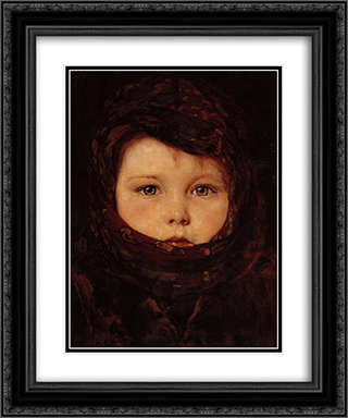 Little Girl 20x24 Black or Gold Ornate Framed and Double Matted Art Print by Nikolaos Gyzis