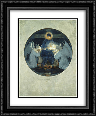 Mother of God, study 20x24 Black or Gold Ornate Framed and Double Matted Art Print by Nikolaos Gyzis