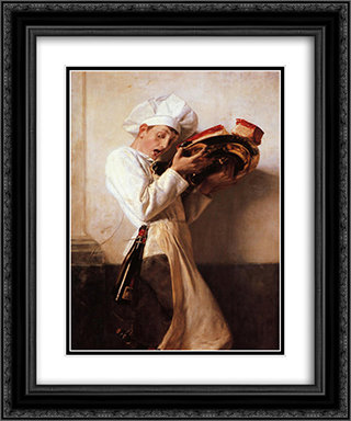 Pastry Man 20x24 Black or Gold Ornate Framed and Double Matted Art Print by Nikolaos Gyzis
