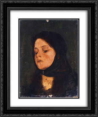 Portrait of a girl 20x24 Black or Gold Ornate Framed and Double Matted Art Print by Nikolaos Gyzis