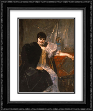 Portrait of Artemis Gyzi 20x24 Black or Gold Ornate Framed and Double Matted Art Print by Nikolaos Gyzis