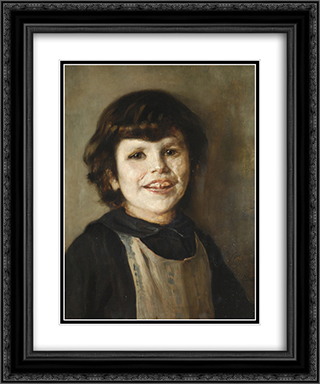 Portrait of Tilemahos Gyzis 20x24 Black or Gold Ornate Framed and Double Matted Art Print by Nikolaos Gyzis