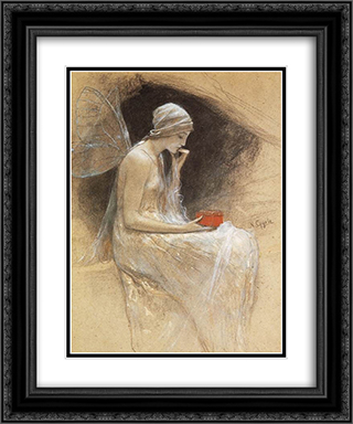 Psyche 20x24 Black or Gold Ornate Framed and Double Matted Art Print by Nikolaos Gyzis