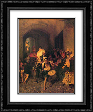 Punishment of the Thief 20x24 Black or Gold Ornate Framed and Double Matted Art Print by Nikolaos Gyzis