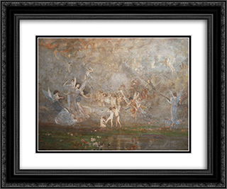 Spring Symphony 24x20 Black or Gold Ornate Framed and Double Matted Art Print by Nikolaos Gyzis