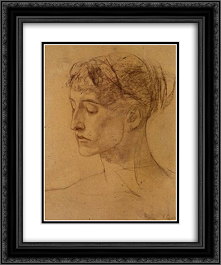 Study for Science 20x24 Black or Gold Ornate Framed and Double Matted Art Print by Nikolaos Gyzis