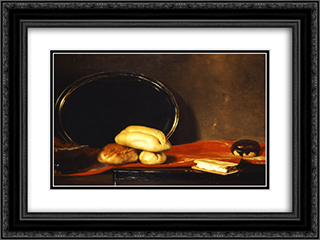 Table or bread 24x18 Black or Gold Ornate Framed and Double Matted Art Print by Nikolaos Gyzis