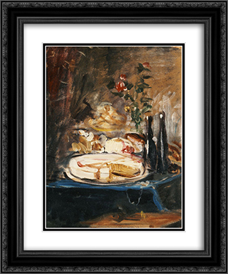 Table with cake 20x24 Black or Gold Ornate Framed and Double Matted Art Print by Nikolaos Gyzis