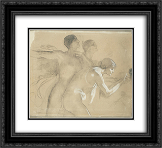 The Apotheosis of Bavaria 22x20 Black or Gold Ornate Framed and Double Matted Art Print by Nikolaos Gyzis