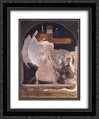 The Archangel, Study for The Grounding of Faith 20x24 Black or Gold Ornate Framed and Double Matted Art Print by Nikolaos Gyzis