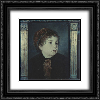 The artist's daughter 20x20 Black or Gold Ornate Framed and Double Matted Art Print by Nikolaos Gyzis