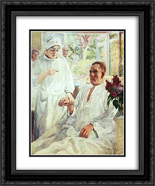 At the Hospital 20x24 Black or Gold Ornate Framed and Double Matted Art Print by Nikolay Bogdanov Belsky