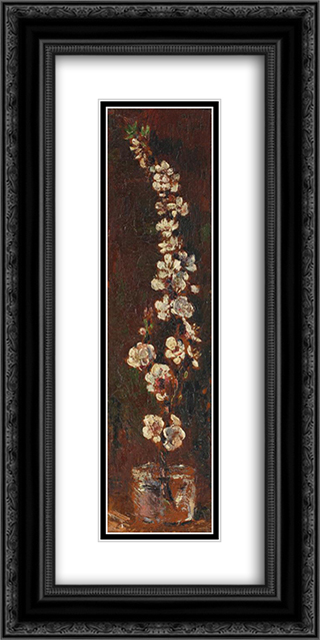 Apple Blossoms 12x24 Black or Gold Ornate Framed and Double Matted Art Print by Octav Bancila