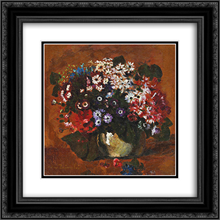 Field Flowers 20x20 Black or Gold Ornate Framed and Double Matted Art Print by Octav Bancila