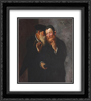 Good Deal 20x22 Black or Gold Ornate Framed and Double Matted Art Print by Octav Bancila