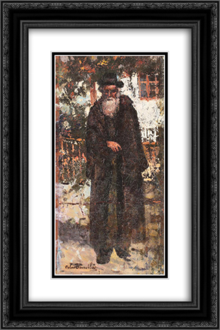 Jew From Targu Cucu 16x24 Black or Gold Ornate Framed and Double Matted Art Print by Octav Bancila
