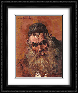 Jewish Portrait 20x24 Black or Gold Ornate Framed and Double Matted Art Print by Octav Bancila