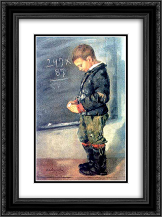 Lost in Calculations 18x24 Black or Gold Ornate Framed and Double Matted Art Print by Octav Bancila