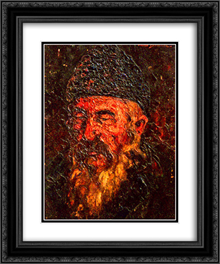 Old Man 20x24 Black or Gold Ornate Framed and Double Matted Art Print by Octav Bancila