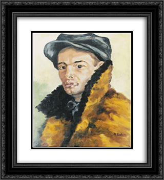 Portrait 20x22 Black or Gold Ornate Framed and Double Matted Art Print by Octav Bancila