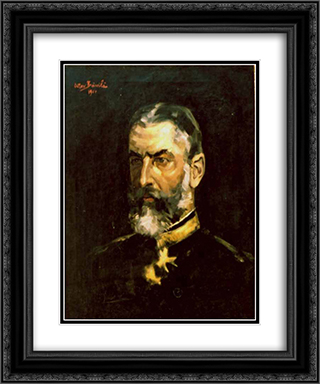 Portrait of King Carol I (of Romania) 20x24 Black or Gold Ornate Framed and Double Matted Art Print by Octav Bancila
