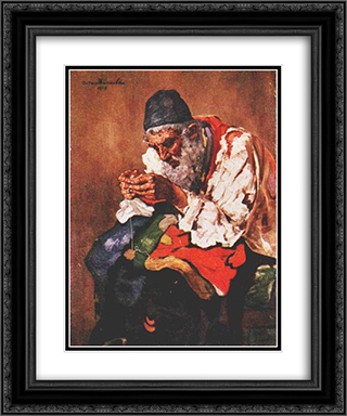 Rag Picker 20x24 Black or Gold Ornate Framed and Double Matted Art Print by Octav Bancila