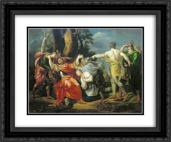 Dmitry Donskoy after the Battle of Kulikovo 24x20 Black or Gold Ornate Framed and Double Matted Art Print by Orest Kiprensky