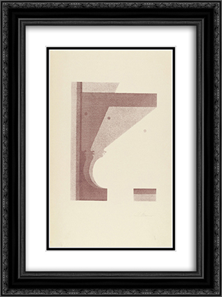Three Profiles, the One in the Middle Vertical (Drei Profile, das mittlere senkrecht) 18x24 Black or Gold Ornate Framed and Double Matted Art Print by Oskar Schlemmer