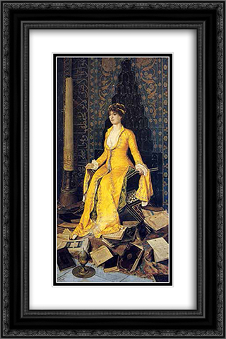 Mihrap 16x24 Black or Gold Ornate Framed and Double Matted Art Print by Osman Hamdi
