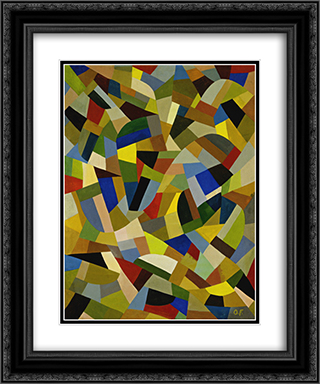 Untitled 20x24 Black or Gold Ornate Framed and Double Matted Art Print by Otto Freundlich