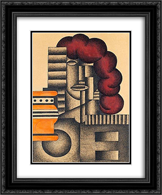 Arkitektonisk komposition 20x24 Black or Gold Ornate Framed and Double Matted Art Print by Otto Gustav Carlsund