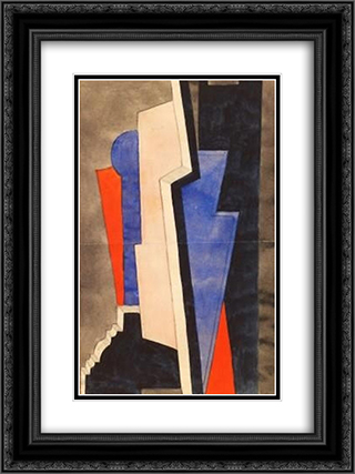 Composition 18x24 Black or Gold Ornate Framed and Double Matted Art Print by Otto Gustav Carlsund