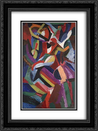 Composition III 18x24 Black or Gold Ornate Framed and Double Matted Art Print by Patrick Henry Bruce