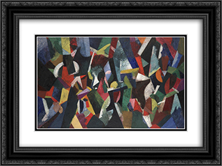 Composition IV 24x18 Black or Gold Ornate Framed and Double Matted Art Print by Patrick Henry Bruce