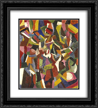 Composition VI 20x22 Black or Gold Ornate Framed and Double Matted Art Print by Patrick Henry Bruce