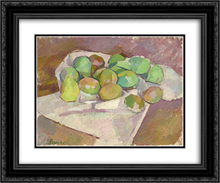 Plums 24x20 Black or Gold Ornate Framed and Double Matted Art Print by Patrick Henry Bruce