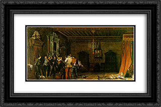 Assassination of Henry I, Duke of Guise 24x16 Black or Gold Ornate Framed and Double Matted Art Print by Paul Delaroche