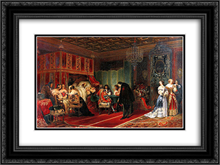 Cardinal Mazarin Dying 24x18 Black or Gold Ornate Framed and Double Matted Art Print by Paul Delaroche