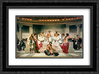 Hemicycle (Central Section) 24x18 Black or Gold Ornate Framed and Double Matted Art Print by Paul Delaroche