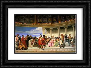 Hemicycle (Section 2) 24x18 Black or Gold Ornate Framed and Double Matted Art Print by Paul Delaroche