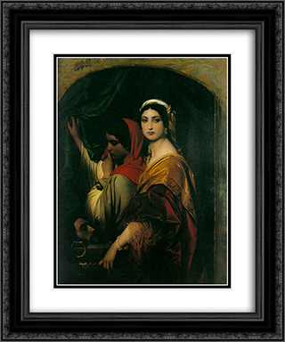 Herodias 20x24 Black or Gold Ornate Framed and Double Matted Art Print by Paul Delaroche