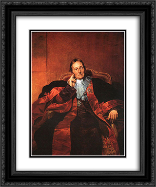 Marquis de Pastoret 20x24 Black or Gold Ornate Framed and Double Matted Art Print by Paul Delaroche