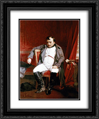 Napoleon Bonaparte abdicated in Fontainebleau 20x24 Black or Gold Ornate Framed and Double Matted Art Print by Paul Delaroche